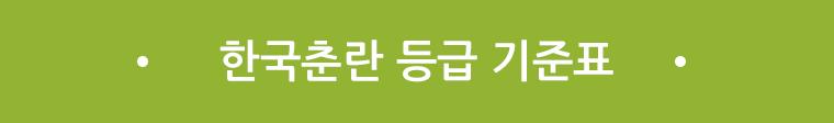 한국춘란 등급 기준표